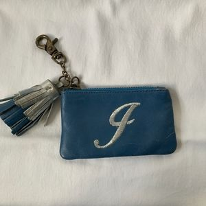 J monogram card holder with tassel *Free with Purc